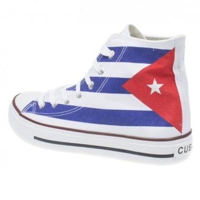Kotníkové tenisky s kubánskou vlajkou