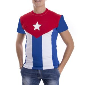 Tričko s kubánskou vlajkou